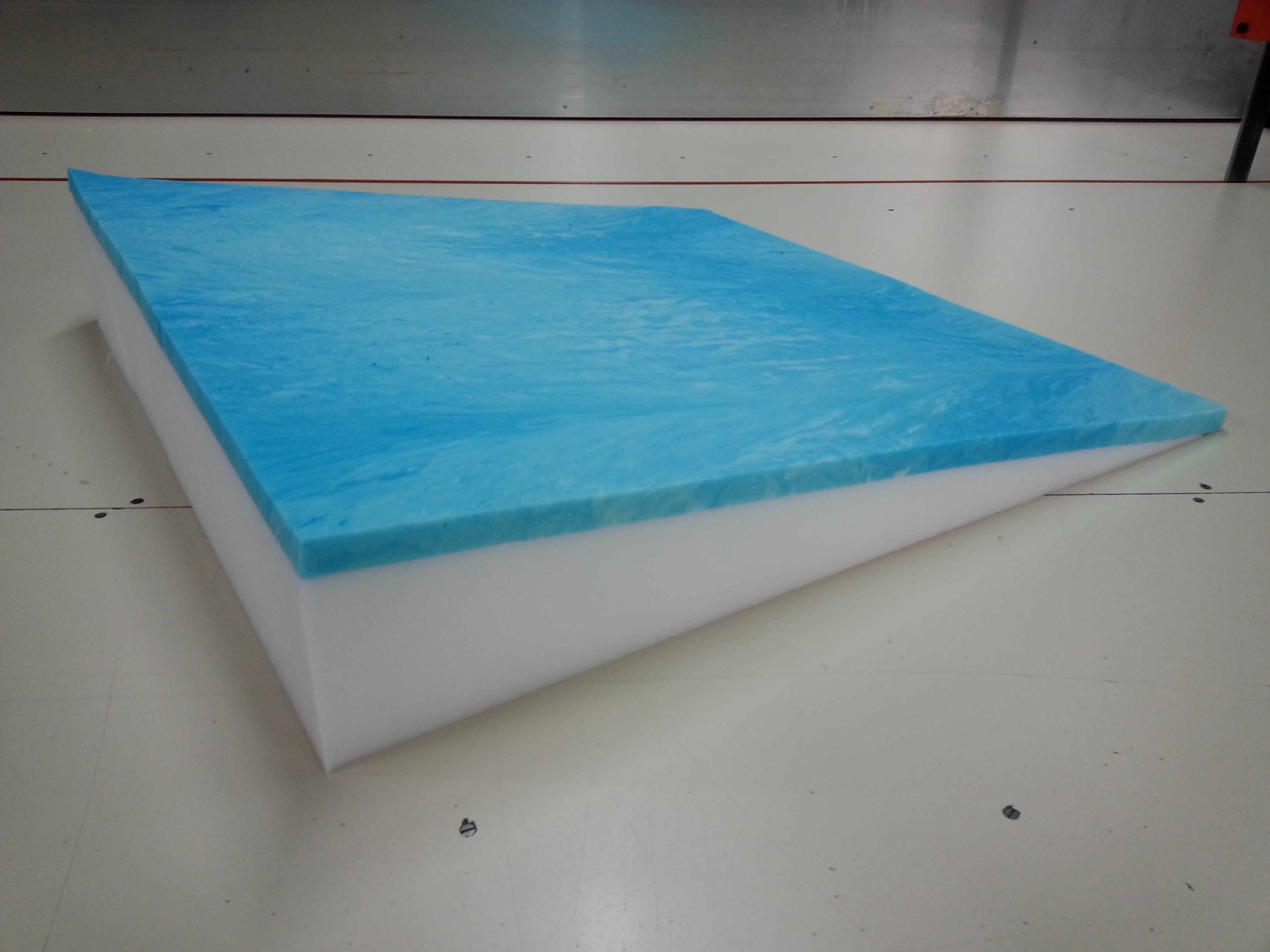made of foam with removable zipper equipped cover foam wedge can be put on top of any existing surface