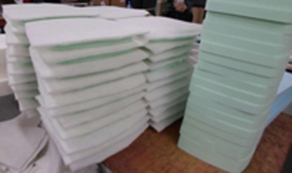 Chair foam replacement foam and more for How to make seat cushions for dining room chairs