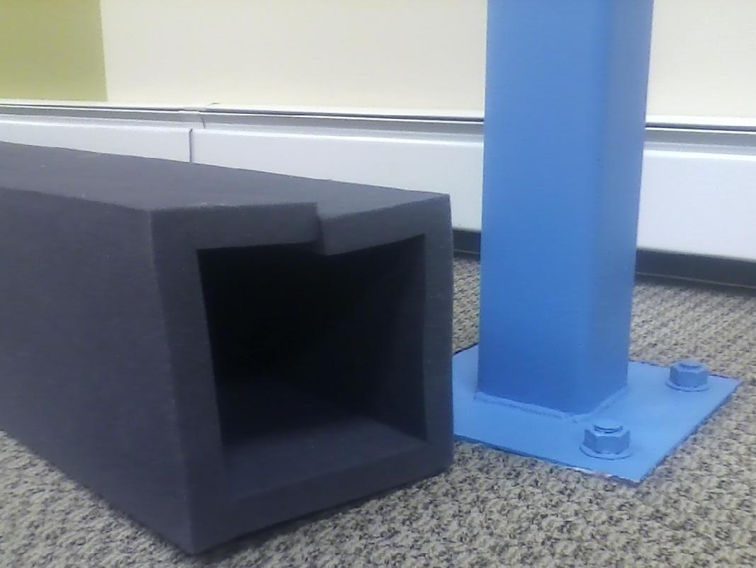 Child Safety Foam Basement Pole Bumper Fireplace Cushion Foam - Basement pole padding